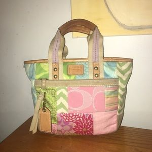 Coach 1941 line suede and canvas bag